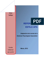 Manual de Referencias Apa Fe 2012
