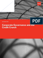 Corporate Governance and the Credit Crunch