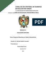 Plan de Trabajo Programa de Educación Sanitaria