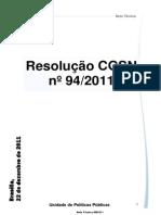 (NT 09-2011 Resolução CGSN 94-2011)