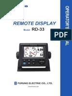 RD33 Operator's Manual Ver E