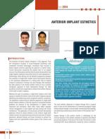 Anterior Implant Esthetics