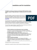 The IFRS Foundation and Its Translation Policies