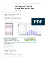 End of Year Test Grade4 Answers