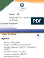 Base Datos Avanzado I - Sesion4