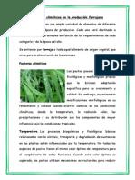 Factores Climáticos en La Producción Forrajera