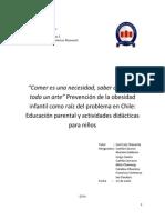 Grupo 3, Informe Emprendimiento, Obesidad en Chile.
