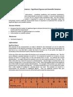 PEC140 SB1 L1 Activity Sheet Measurement and Sig Figs (W1LX)