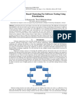 Cosine Similarity Based Clustering For Software Testing Using Prioritization