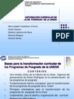 Transformación Curricular Postgrado Unesr 20-07-2011
