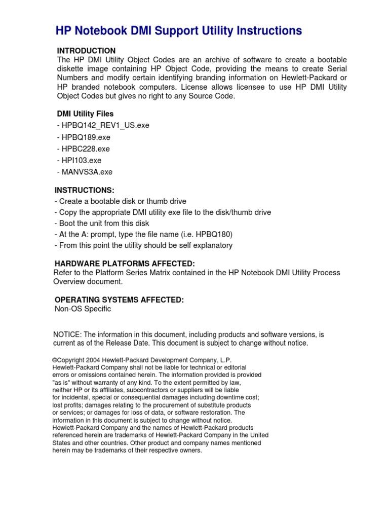 Hp Dmi Tool Change Serial Number ••▷ SFB