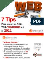 7 Tips Para Crear Una Pagina Web Vendedora en El 2011
