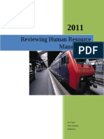 Reviewing Human Resource Management
