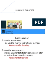 Assessment Reporting Intro