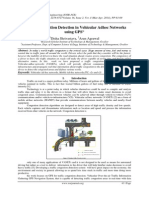Traffic Congestion Detection in Vehicular Adhoc Networks using GPS
