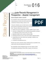Management ARM Disaster