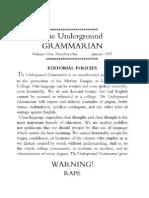 The Underground Grammarian, Vol. I