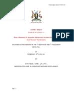 Budget Speech 2014