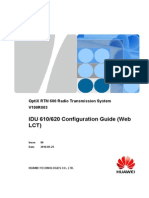 IDU 610620 Configuration Guide (Web LCT)-(V100R003_06)