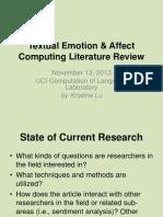 textual affect computing