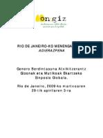 Declaracion de Rio en Euskara 22-10-2009