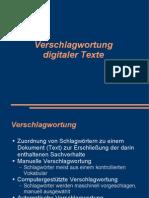 Verschlagwortung digitaler Texte