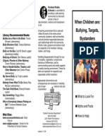 Child Abuse Bully Brochure