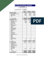 Cash Flow Sensitivity Analysis