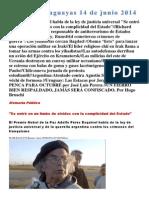 Noticias Uruguayas 14 de Junio 2014