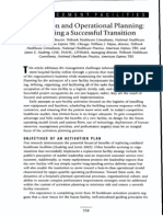 Activation and Operational Planning - Ensuring a Succesful Transition