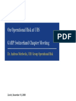 On Operational Risk at Ubs