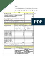 Scholastic Averages Sheet