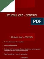 Studiul Caz - Control,Urgente Medicina