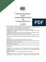Pak-Iran Preferential Trade Agreement