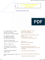 NZ Folk Song _ E To Matou Matua