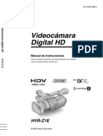 Cámara SONY HVR-Z1E - Manual Operativo