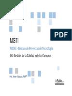 2014 MGTI GPT S04 Calidad y Compras