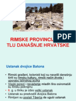 6 Rimske Provincije Na Tlu Danasnje Hrvatske