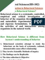 Unit I- Introduction to Behavioral Sciences