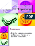 Types Entrepreneurs