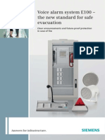 Voice Alarm System E100 the New Standard for Safe Evacuation A6V10252907 Hq En