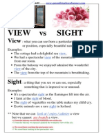 View vs Sight