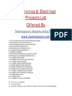 List of Electronics Projects,Ece Projects List