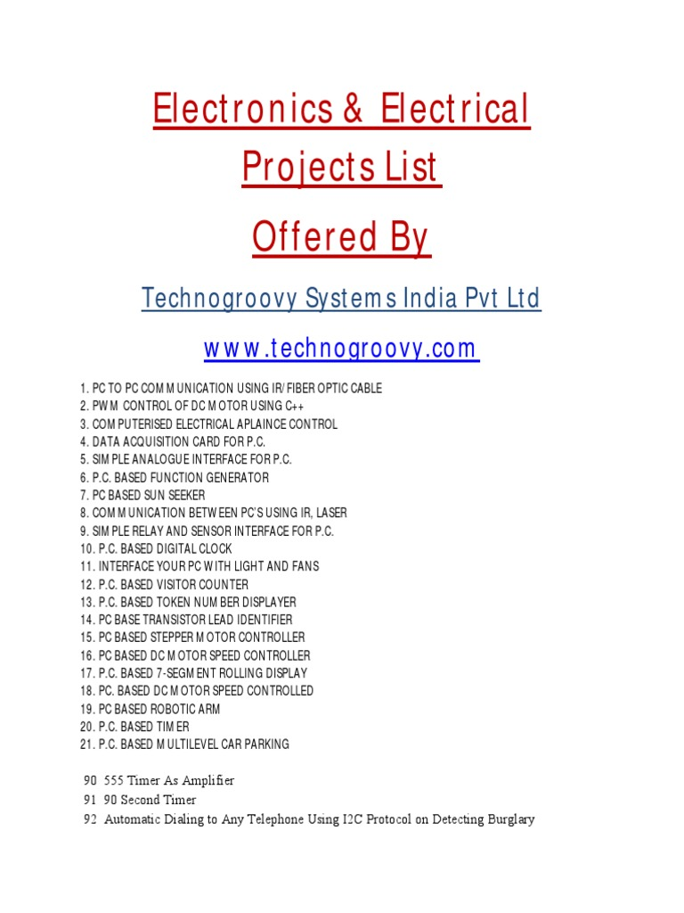 List Of Electronics Projectsece Projects Security Alarm 555 Ic Timer Control Relay Switchcircuit Diagram World Wireless