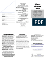 June 8, 2014 Trifold Bulletin