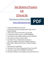 List of Embedded Systems Projects
