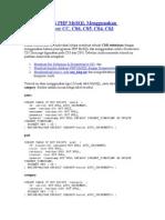 Membuat CMS PHP MySQL Menggunakan Dreamweaver CC
