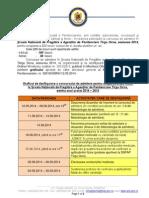 Grafic de Desfasurare Concurs de Admitere Snpap Tirgu Ocna 2014