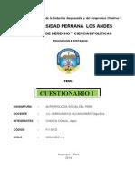 Antropología Social Del Perú.