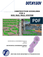 Design & Construction Guidelines for a Soil Nail Wall System